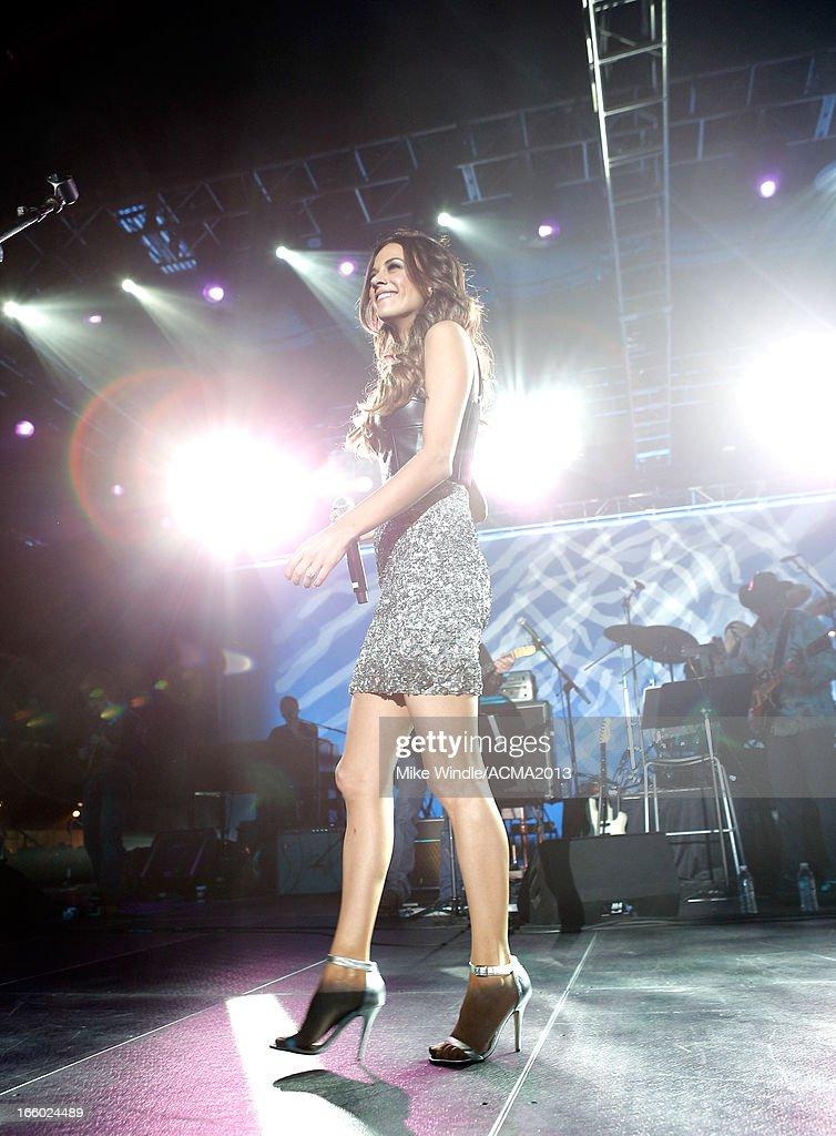 Singer Jana Kramer performs onstage at the All Star Jam during the 48th Annual Academy Of Country Music Awards at the MGM Grand Hotel/Casino on April 7, 2013 in Las Vegas, Nevada.