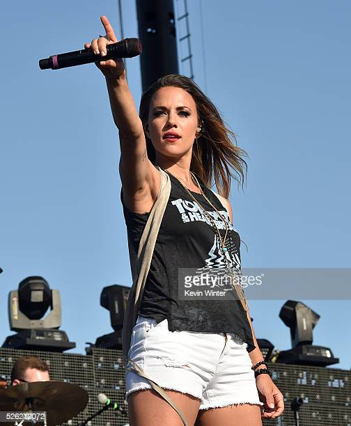 Singer Jana Kramer performs onstage during 2016 Stagecoach California's Country Music Festival at Empire Polo Club on April 29 2016 in Indio...