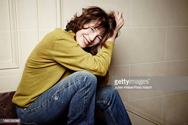 Singer Jane Birkin is photographed for Paris Match on February 20 2013 in Paris France