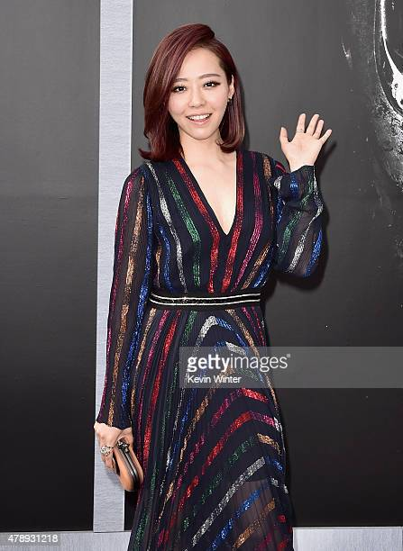 Singer Jane Zhang attends the LA Premiere of Paramount Pictures' 'Terminator Genisys' at the Dolby Theatre on June 28 2015 in Hollywood California