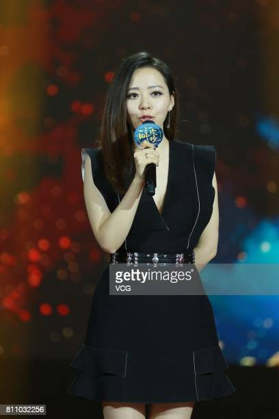 Singer Jane Zhang Liangying performs onstage during the launch ceremony of TV series 'Lost Love in Times' on July 8 2017 in Shanghai China