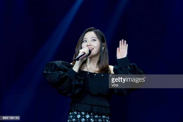 Singer Jane Zhang Liangying performs onstage during Yingke gala on May 27 2017 in Beijing China