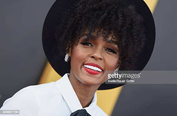 Singer Janelle Monae arrives at the 18th Annual Hollywood Film Awards at The Palladium on November 14 2014 in Hollywood California