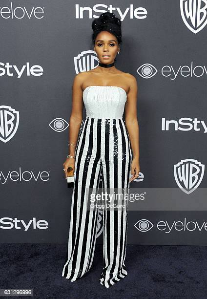 Singer Janelle Monae arrives at the 18th Annual PostGolden Globes Party hosted by Warner Bros Pictures and InStyle at The Beverly Hilton Hotel on...