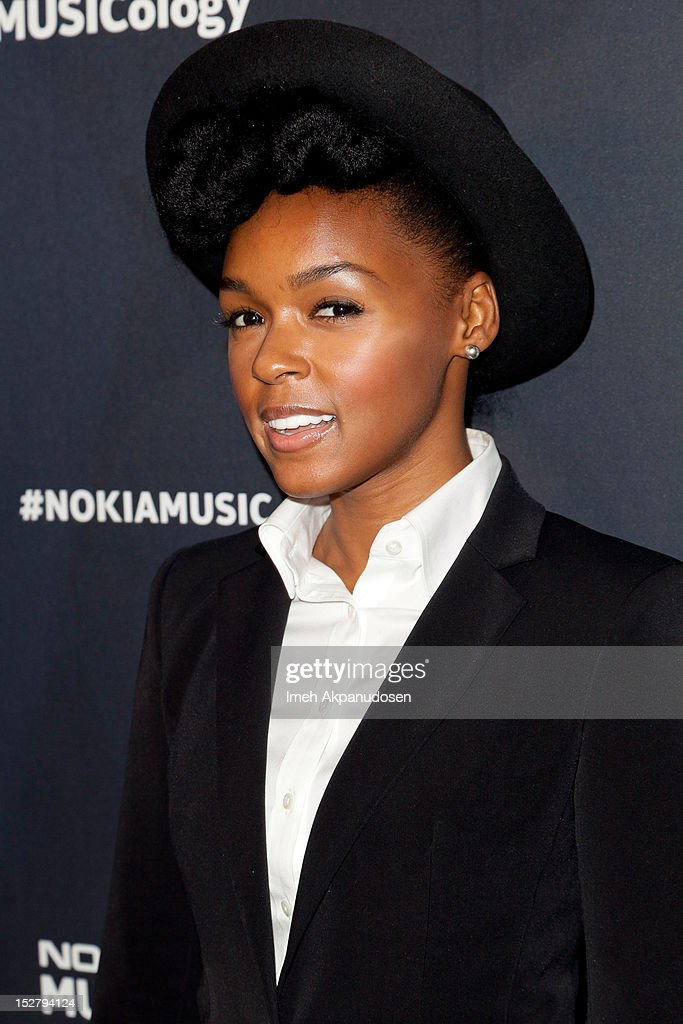 Singer <a gi-track='captionPersonalityLinkClicked' href=/galleries/search?phrase=Janelle+Monae&family=editorial&specificpeople=715847 ng-click='$event.stopPropagation()'>Janelle Monae</a> attends a Nokia Music Launch Concert at Club Nokia with <a gi-track='captionPersonalityLinkClicked' href=/galleries/search?phrase=Janelle+Monae&family=editorial&specificpeople=715847 ng-click='$event.stopPropagation()'>Janelle Monae</a> on September 25, 2012 in Los Angeles, California.