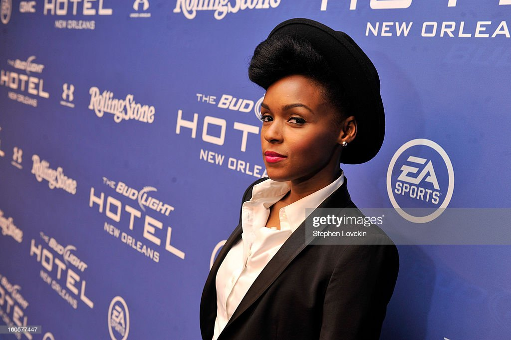Singer Janelle Monae attends Bud Light Presents Stevie Wonder and Gary Clark Jr. at the Bud Light Hotel on February 2, 2013 in New Orleans, Louisiana.