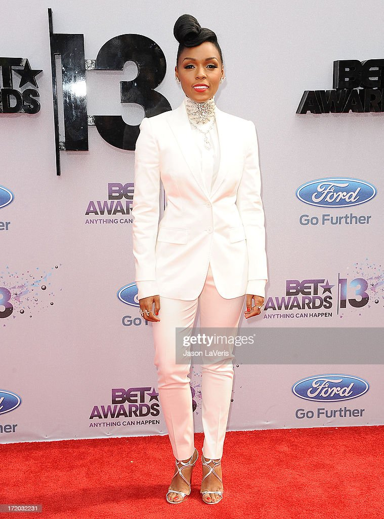 Singer Janelle Monae attends the 2013 BET Awards at Nokia Theatre LA Live on June 30 2013 in Los Angeles California