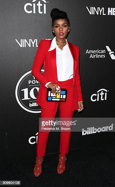 Singer Janelle Monae attends the 2016 Billboard Power 100 Celebration at Bouchon on February 12 2016 in Beverly Hills California
