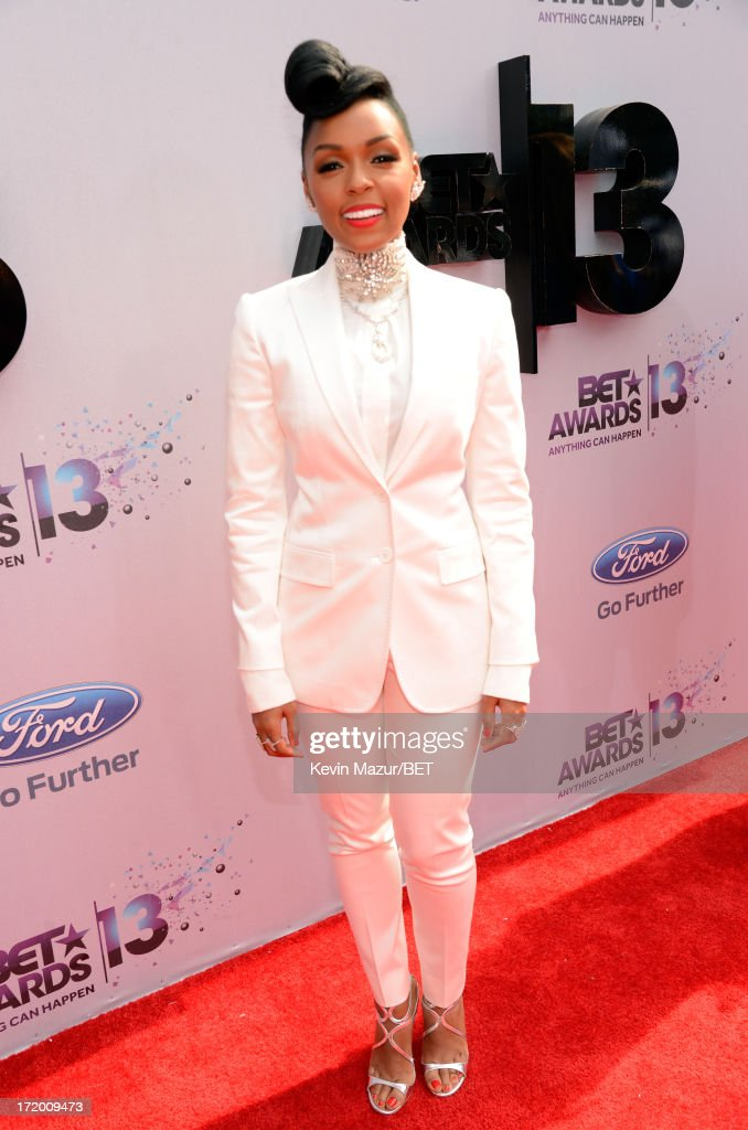 Singer Janelle Monae attends the Ford Red Carpet at the 2013 BET Awards at Nokia Theatre LA Live on June 30 2013 in Los Angeles California