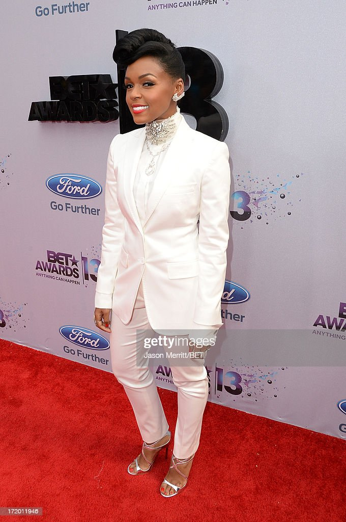 Singer Janelle Monae attends the Ford Red Carpet at the 2013 BET Awards at Nokia Theatre L.A. Live on June 30, 2013 in Los Angeles, California.