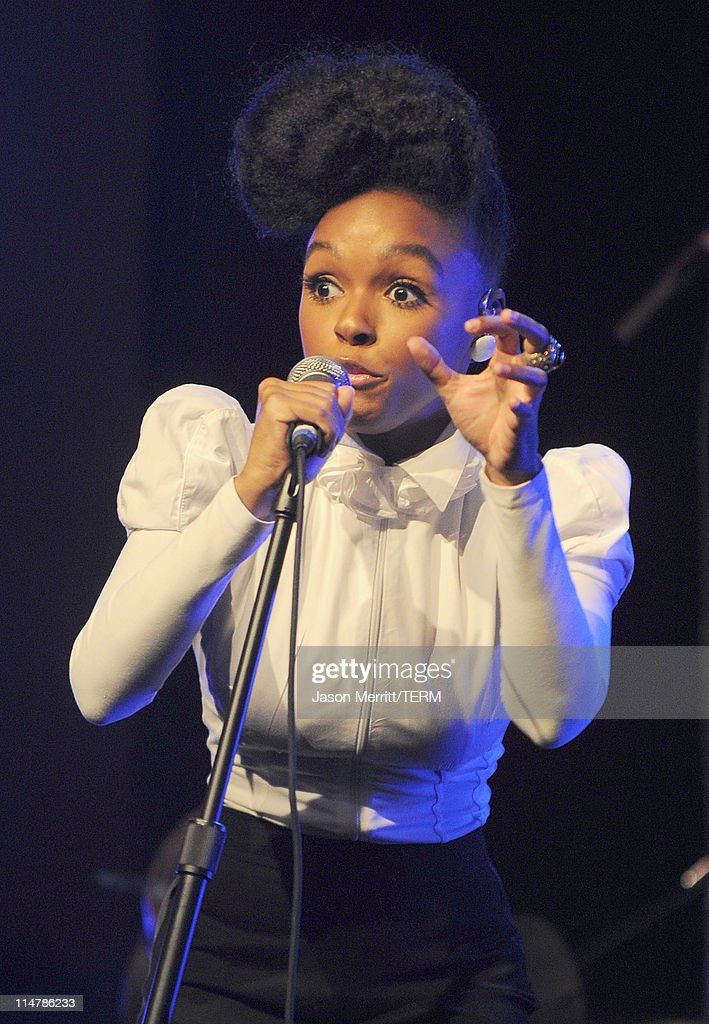 Singer Janelle Monae performs on stage at W Hotels' Symmetry Live featuring Janelle Monae at W Hollywood on May 25, 2010 in Hollywood, California.