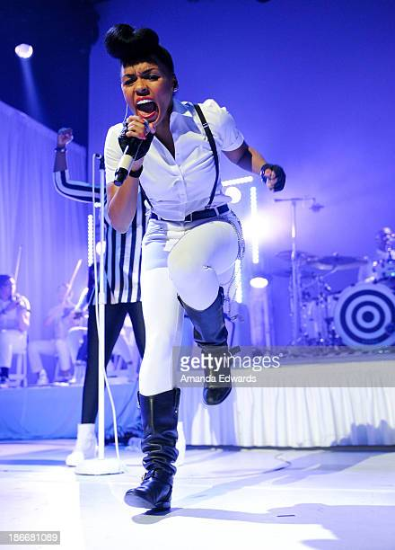 Singer Janelle Monae performs onstage at Club Nokia on November 2 2013 in Los Angeles California