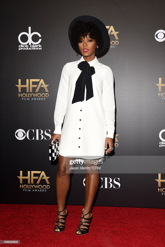 Singer Janelle Monae, winner of Hollywood Song for 'What is Love?' from 'Rio 2,' poses in the press room during the 18th Annual Hollywood Film Awards at The Palladium on November 14, 2014 in Hollywood, California.