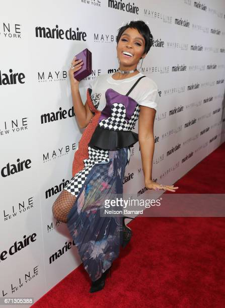Singer Janelle Monáe attends Marie Claire's 'Fresh Faces' celebration with an event sponsored by Maybelline at Doheny Room on April 21 2017 in West...