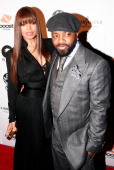 Singer Janet Jackson and husband Producer Jermaine Dupri attend Jermaine Dupri's Grammy PreParty at Central Hollywood Lounge on February 8 2008 in...