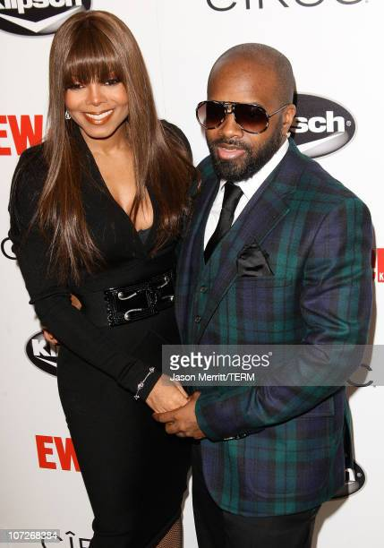 Singer Janet Jackson and Jermaine Dupri arrives at Entertainment Weekly's toast to Antonio 'LA' Reid at STKLA on February 10 2008 in West Hollywood...