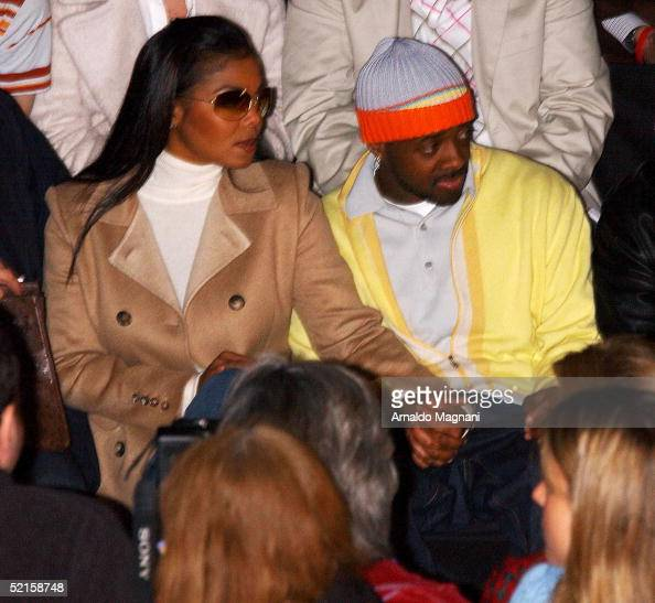 Singer Janet Jackson and Jermaine Dupri attend the Bill Blass fashion show at Bryant Park February 8 2005 in New York City