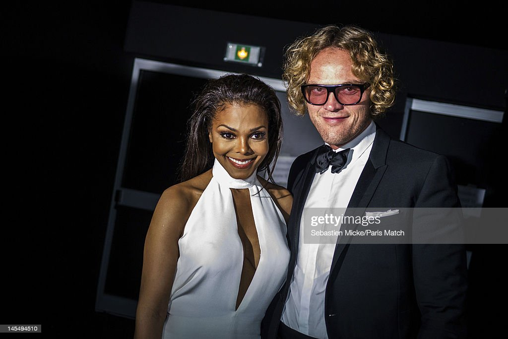 Singer Janet Jackson and Peter Dunas, photographed at the amfAR Cinema Against AIDS gala, for Paris Match on May 24, 2012, in Cap d'Antibes, France.