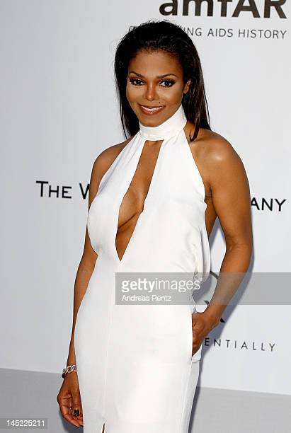 Singer Janet Jackson arrives at the 2012 amfAR's Cinema Against AIDS during the 65th Annual Cannes Film Festival at Hotel Du Cap on May 24 2012 in...