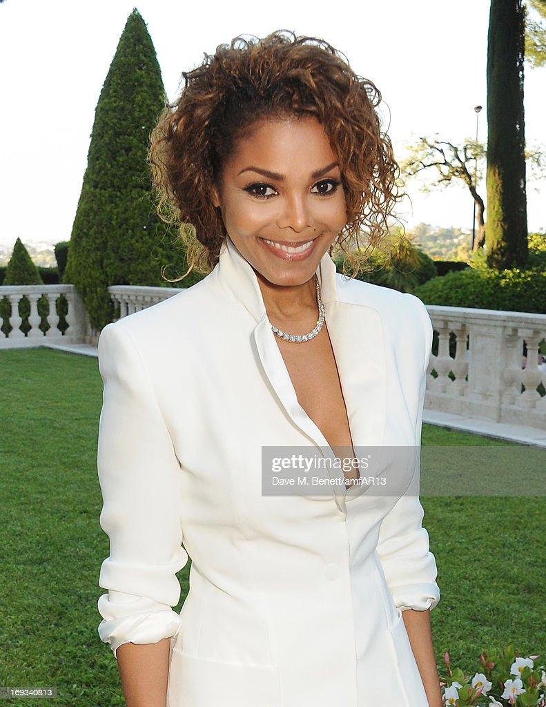 Singer <a gi-track='captionPersonalityLinkClicked' href=/galleries/search?phrase=Janet+Jackson&family=editorial&specificpeople=156414 ng-click='$event.stopPropagation()'>Janet Jackson</a> attends amfAR's 20th Annual Cinema Against AIDS during The 66th Annual Cannes Film Festival at Hotel du Cap-Eden-Roc on May 23, 2013 in Cap d'Antibes, France.