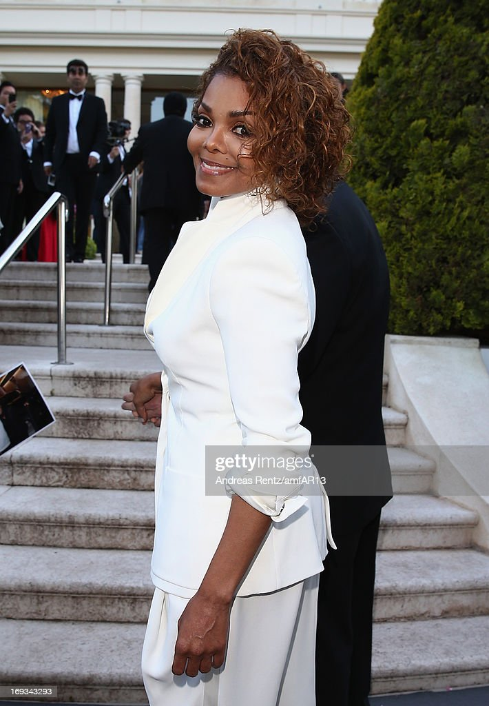 Singer Janet Jackson attends amfAR's 20th Annual Cinema Against AIDS during The 66th Annual Cannes Film Festival at Hotel du Cap-Eden-Roc on May 23, 2013 in Cap d'Antibes, France.