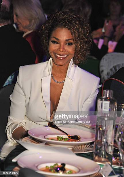 Singer Janet Jackson attends amfAR's 20th Annual Cinema Against AIDS during The 66th Annual Cannes Film Festival at Hotel du CapEdenRoc on May 23...