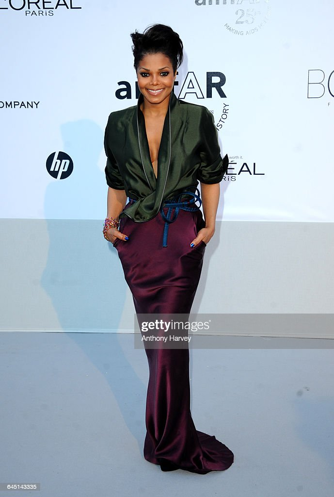 Singer Janet Jackson attends amfAR's Cinema Against AIDS Gala during the 64th Annual Cannes Film Festival at Hotel Du Cap on May 19 2011 in Antibes...