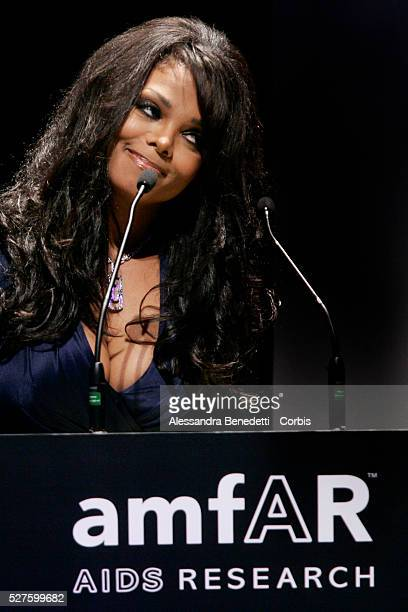 US singer Janet Jackson attends the Amfar Aids Research gala and auction in Milan