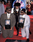 Singer Janet Jackson music producer James 'Jimmy Jam' Harris and music producer Terry Lewis attend the Hollywood Walk of Fame Star Ceremony for James...