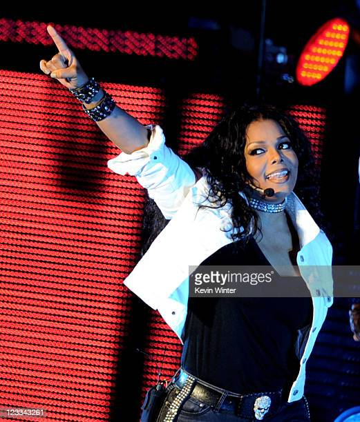 Singer Janet Jackson performs at the Greek Theatre on September 1 2011 in Los Angeles California
