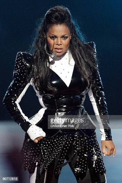 Singer Janet Jackson performs during the 2009 MTV Video Music Awards at Radio City Music Hall on September 13 2009 in New York City