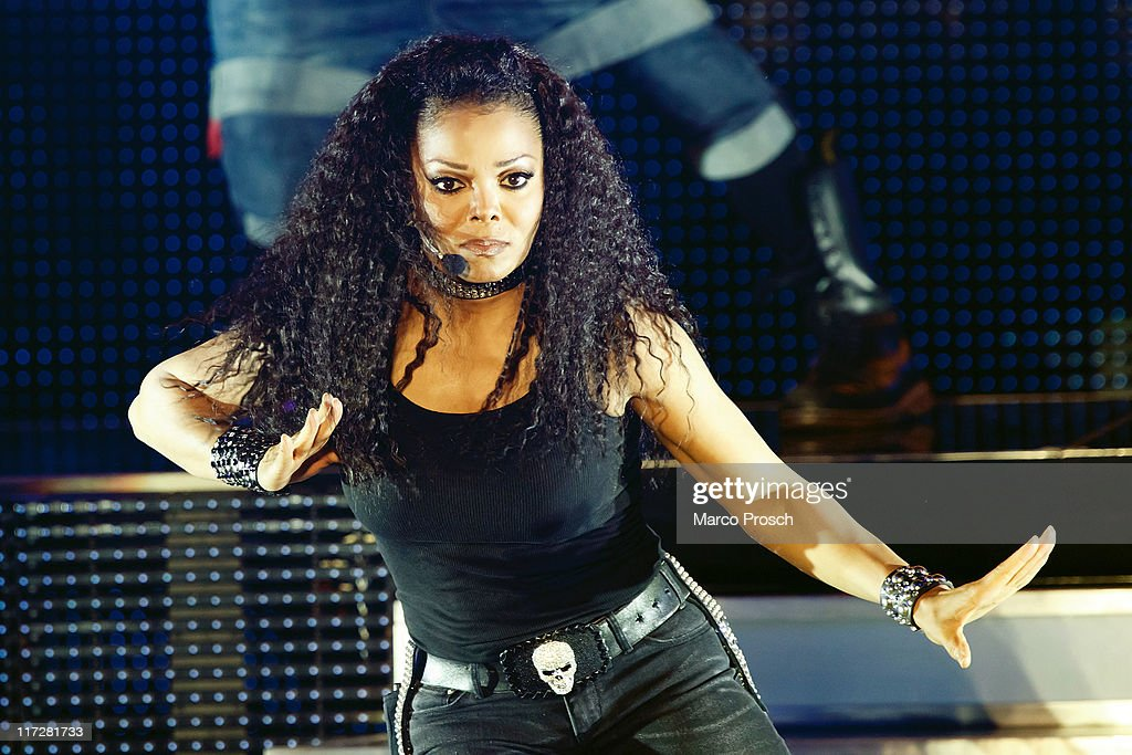 US singer <a gi-track='captionPersonalityLinkClicked' href=/galleries/search?phrase=Janet+Jackson&family=editorial&specificpeople=156414 ng-click='$event.stopPropagation()'>Janet Jackson</a> performs live at the Tempodrom on June 24, 2011 in Berlin, Germany.