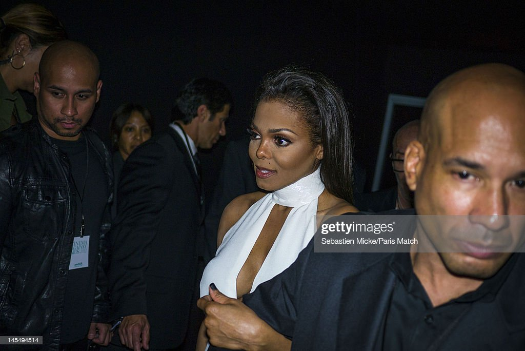 Singer Janet Jackson, photographed at the amfAR Cinema Against AIDS gala, for Paris Match on May 24, 2012, in Cap d'Antibes, France.