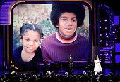 Singer Janet Jackson sister of the late singer Michael Jackson speaks at the 2009 BET Awards held at the Shrine Auditorium on June 28 2009 in Los...