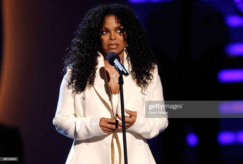 Singer Janet Jackson, sister of the late singer Michael Jackson speaks at the 2009 BET Awards held at the Shrine Auditorium on June 28, 2009 in Los Angeles, California.