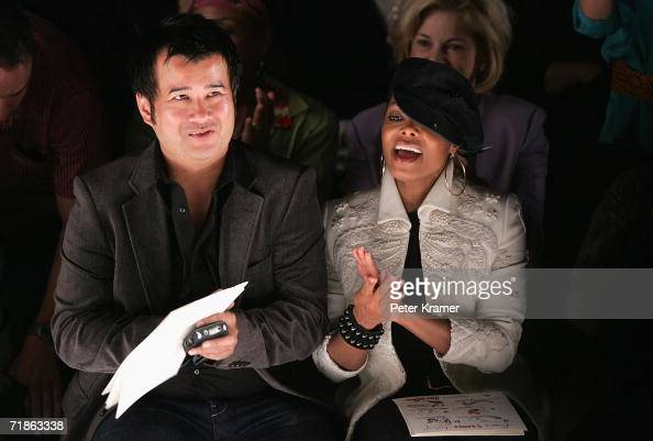 Singer Janet Jackson sits in the front row at the Bill Blass Spring 2007 fashion show during Olympus Fashion Week at the Tent in Bryant Park...