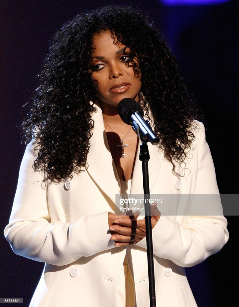 Singer Janet Jackson speaks onstage during the 2009 BET Awards held at the Shrine Auditorium on June 28, 2009 in Los Angeles, California.