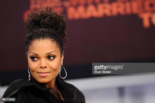 Singer Janet Jackson visits BET's 106 Park at BET Studios on March 31 2010 in New York City