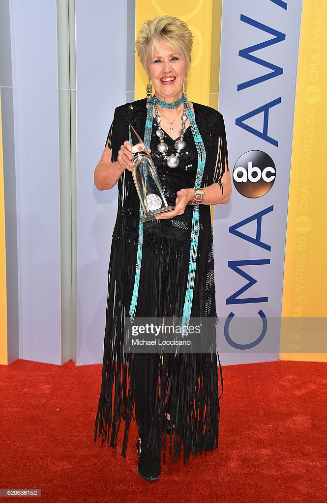 Singer Janie Fricke attends the 50th annual CMA Awards at the Bridgestone Arena on November 2, 2016 in Nashville, Tennessee.