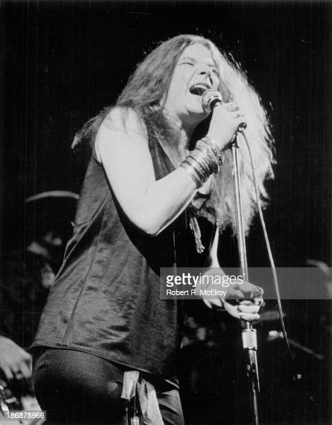 Singer Janis Joplin performs onstage at an unknown venue in New York 1965