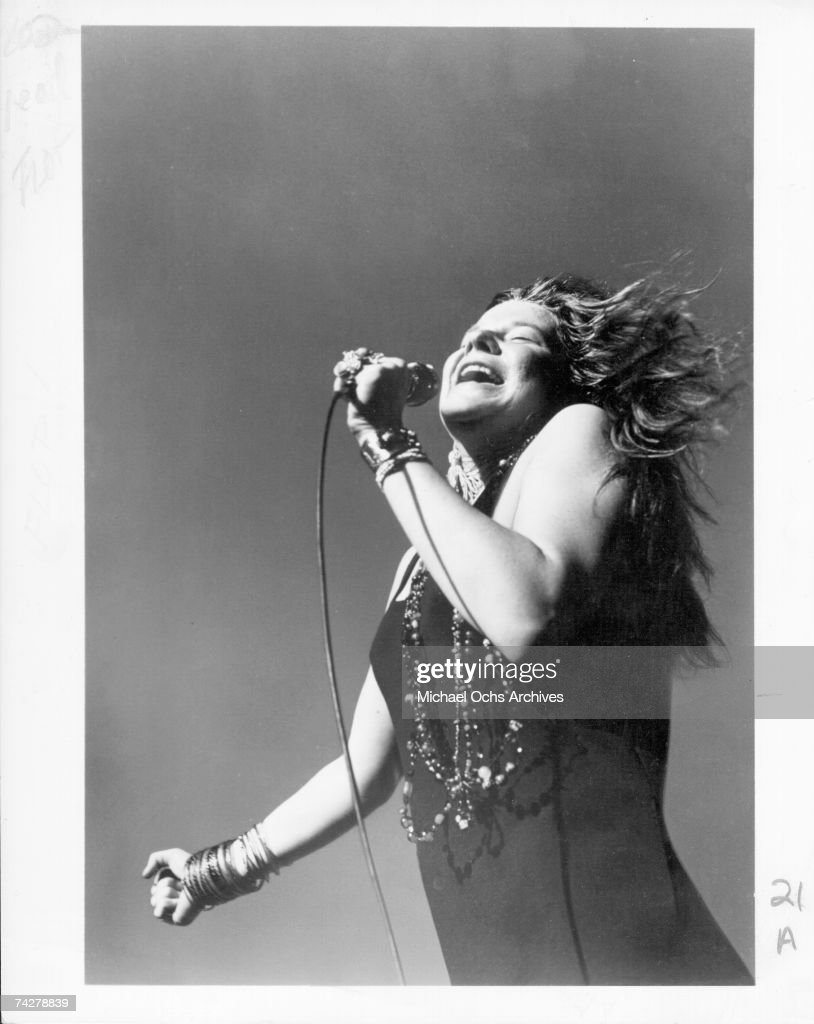 Singer Janis Joplin performs onstage at the Santa Clara County Fairgrounds for the Northern California FolkRock Festival on May 18 1968 in San Jose...