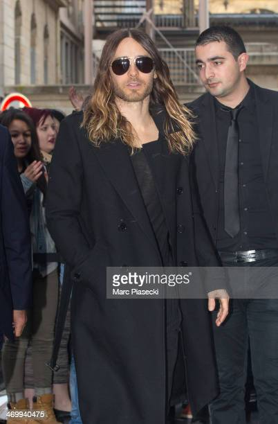 Singer Jared Leto leaves the 'NRJ' radio station on February 17 2014 in Paris France
