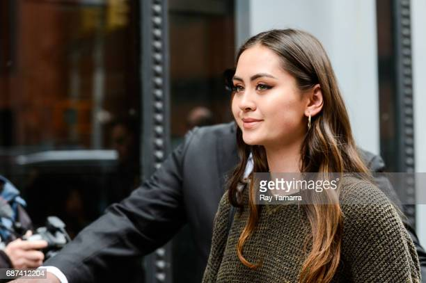 Singer Jasmine Thompson leaves the 'AOL Build' taping at the AOL Studios on May 23 2017 in New York City