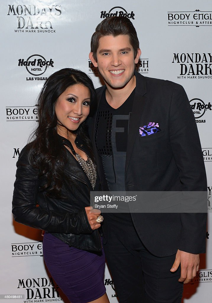 Singer <a gi-track='captionPersonalityLinkClicked' href=/galleries/search?phrase=Jasmine+Trias&family=editorial&specificpeople=217397 ng-click='$event.stopPropagation()'>Jasmine Trias</a> (L) and Ben Stone arrive at Mondays Dark with Mark Shunock charity event at the Body English Nightclub inside the Hard Rock Hotel & Casino on November 18, 2013 in Las Vegas, Nevada.