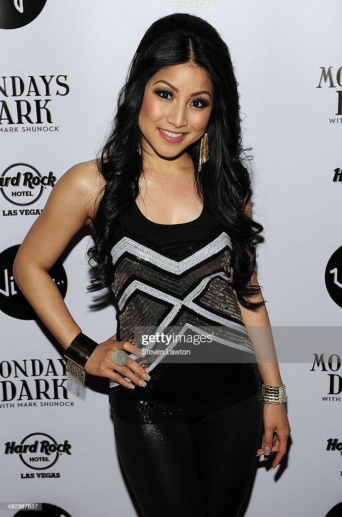Singer Jasmine Trias arrives at 'Mondays Dark With Mark Shunock' benefiting the NF Network at Vinyl inside the Hard Rock Hotel & Casino on May 19, 2014 in Las Vegas, Nevada.