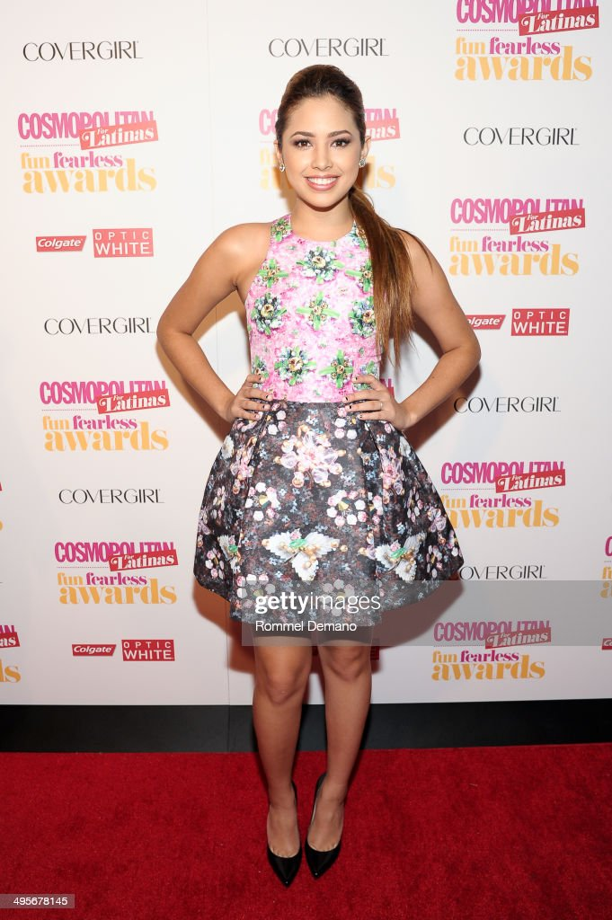 Singer <a gi-track='captionPersonalityLinkClicked' href=/galleries/search?phrase=Becky+G&family=editorial&specificpeople=9754027 ng-click='$event.stopPropagation()'>Becky G</a> attends Cosmopolitan 'Fun, Fearless' Latina Awards at Hearst Tower on June 4, 2014 in New York City.