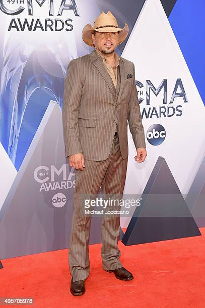 Singer Jason Aldean attends the 49th annual CMA Awards at the Bridgestone Arena on November 4 2015 in Nashville Tennessee