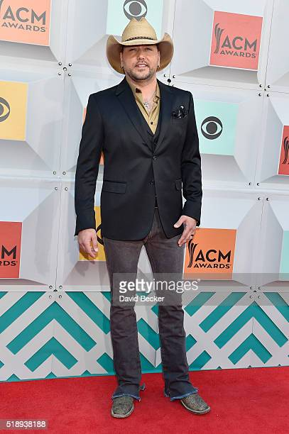 Singer Jason Aldean attends the 51st Academy of Country Music Awards at MGM Grand Garden Arena on April 3 2016 in Las Vegas Nevada