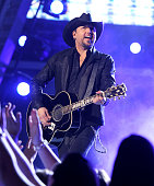 Singer Jason Aldean performs onstage during the 49th Annual Academy of Country Music Awards at the MGM Grand Garden Arena on April 6 2014 in Las...