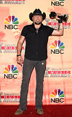 Singer Jason Aldean winner of the Country Song of the Year Award for Burnin' It Down poses in the press room during the 2015 iHeartRadio Music Awards...